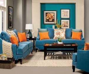 آبی و نارنجی