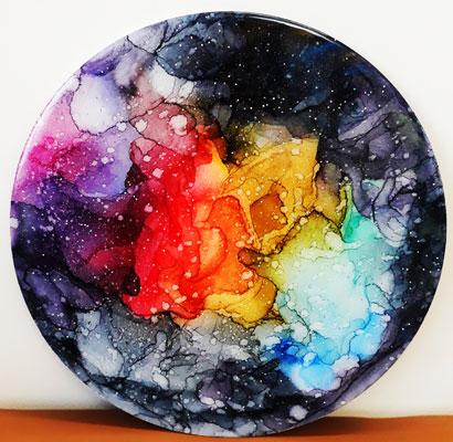 تابلو ابستره کهکشان رزینی