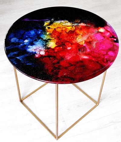 میز رزینی کهکشان