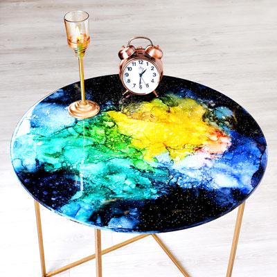 میز کهکشان رزینی