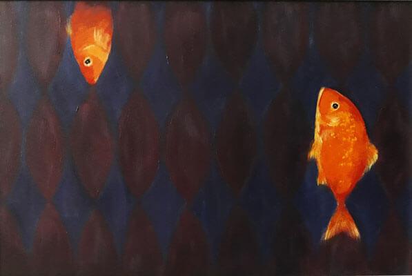 نقاشی اکریلیک ماهی