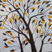 نقاشی اکریلیک از درخت